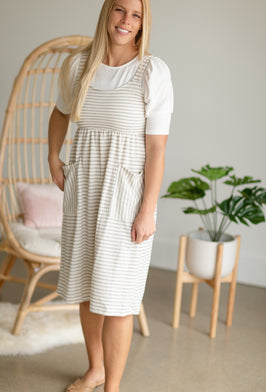 Inherit Co.  | Modest Dresses | Kirsten 3/4 Sleeve Buttersoft Midi Dress |