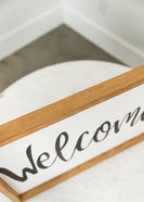 Welcome Wood Frame Signboard - FINAL SALE