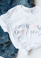 One World One Heart Tee Graphic Tee - FINAL SALE