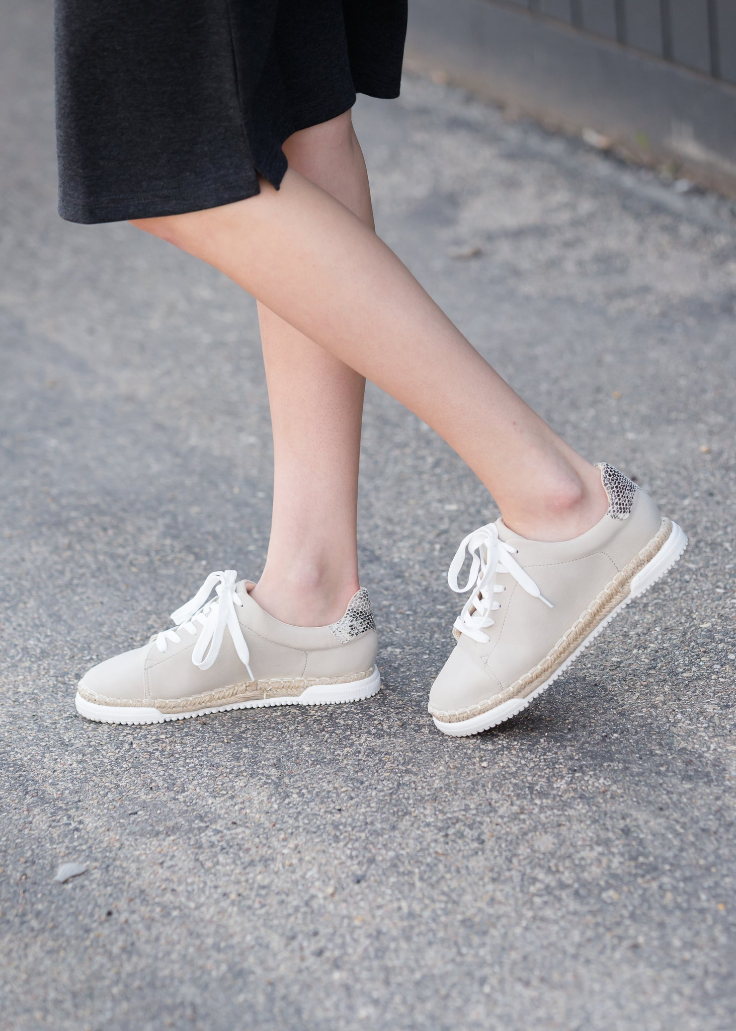 Casual Lace Up Detail Sneakers - FINAL SALE