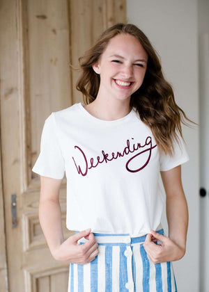 Weekending modest women's cotton tee