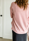 Hacci Brushed Blush Pullover Sweater - FINAL SALE