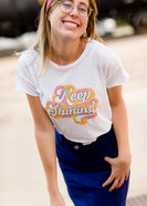 Keep Shining mustard and pink Inherit Graphic Tee