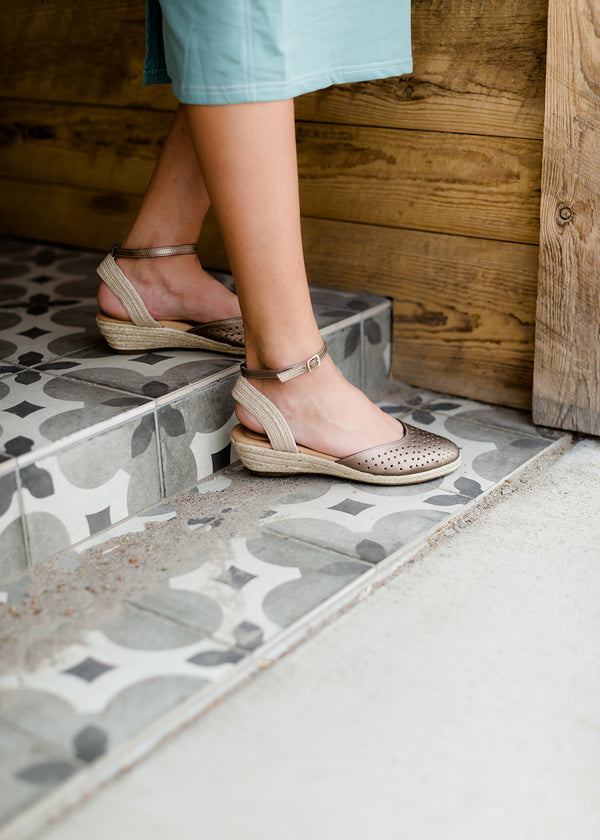 taupe and mink leather espadrille ankle wrap sandal