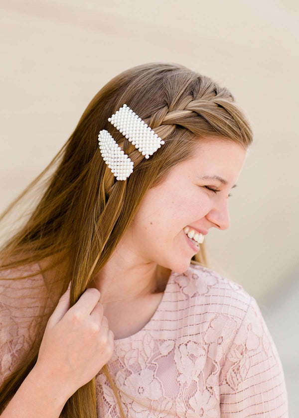 Inherit Co.  | Women's Accessories | Faux Pearl Hair Clips