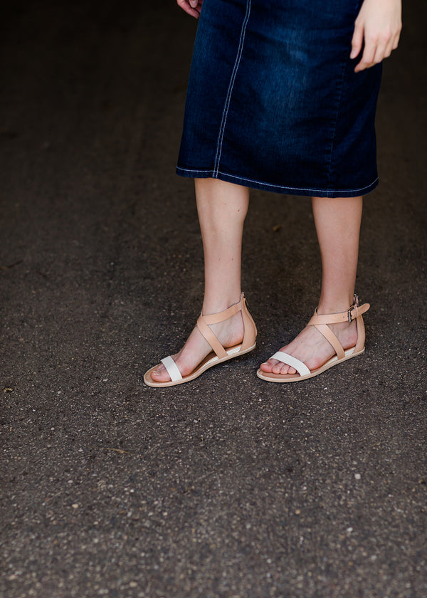 Inherit Co.  | Modest Clothing on Sale | Dolce Vita Ankle Wrap Leather Sandals - FINAL SALE | dolce vita nolen 100% leather sandals