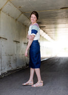 Women's Dark Denim Junee Skirt No Slit