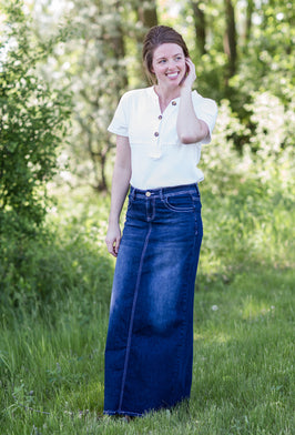 Inherit Co.  | Inherit Originals | Lainey Long Denim Skirt |