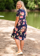 Refreshing Floral Empire Waist Midi Dress - FINAL SALE