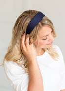 Basic Navy Solid Headband - FINAL SALE