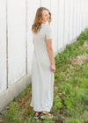 Heather Gray Short Sleeve Stretch Maxi Dress - FINAL SALE