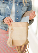 Braided Tassel Canvas Backpack - FINAL SALE
