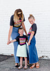 Girls dark gray morris minnesota graphic tee