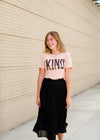 Peach Modest Graphic Tee