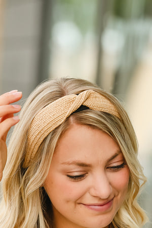 Twisted Weaved Natural Headband