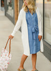 Chambray Tie Waist Midi Dress - FINAL SALE