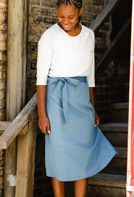 Inherit Co.  | Skirts Sale | Black Denim Pocket Detail Midi Skirt - FINAL SALE |