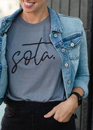 Gray Dolman Sleeve Sota Tee - FINAL SALE
