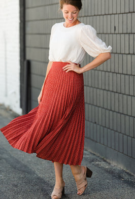 Inherit Co.  | Skirts Sale | Polka Dot Button Up Midi Skirt - FINAL SALE |