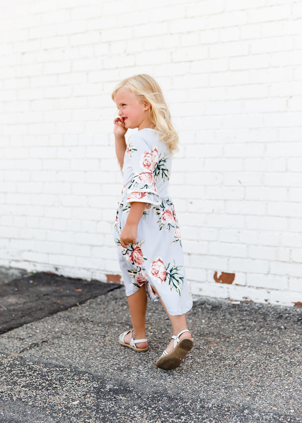 Inherit Co.  | Modest Clothing on Sale | Summer Sky Floral Midi Dress