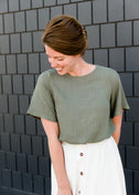 Heathered Twist Hem Tee