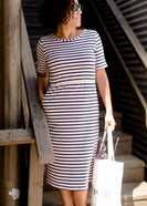 Kristen Striped Midi Dress