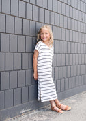 Maritime Stripe Maxi Dress