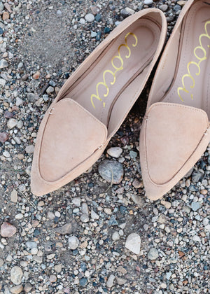 Faux Suede Tan Flat - FINAL SALE
