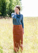 Inherit Co.  | Modest Plus Size Clothing | Cozy Cowl Neck Sweater | teal cowl neck sweater