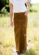 Inherit Co.  | Gwen Long Corduroy Skirt | womens long corduroy maxi skirt in fall colors