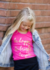 bright pink be happy, be bright, be you tee shirt