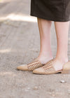 Woven closed toe ballerina shoe