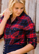 Cozy Checker Plaid Top