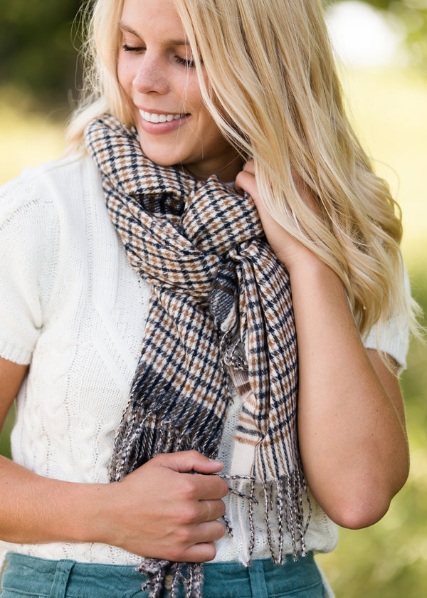 Inherit Co.  | Women's Accessories | Two Tone Buffalo Check Scarf