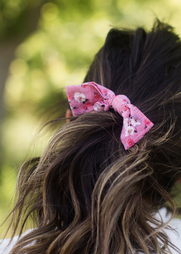 Inherit Co.  | Women's Accessories | Sweet Floral Bow Hair Scrunchie | floral hair scrunchie with bow