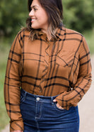Inherit Co.  | Modest Women's Tops | Brick Plaid Button Up Top | Brick Plaid Button Up Womens Top