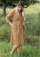 Mod Stripe Midi Dress