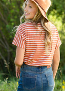 Rust Classic Striped Tee - FINAL SALE