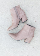 Taupe Pointed Toe Bootie - FINAL SALE