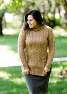 women's cable knit taupe or plum sweater