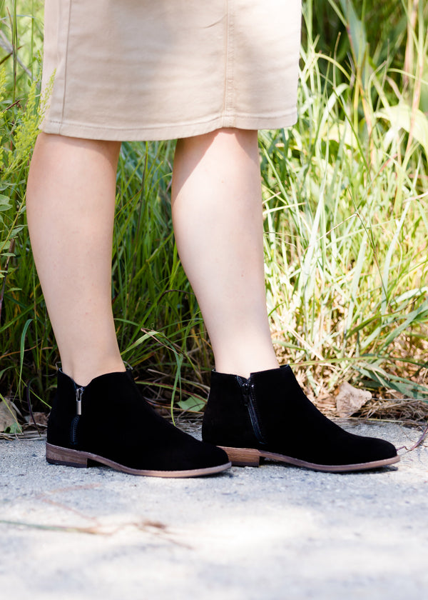 Inherit Co.  | Modest Clothing on Sale | Sole Society - Side Zip Detail Bootie | sole society black size zip bootie