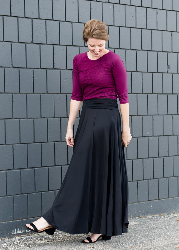 Inherit Co.  | Modest Women's Skirts | Feminine Flair Lined Maxi Skirt