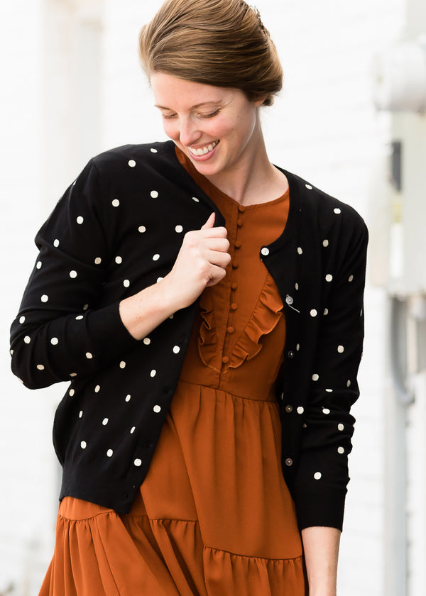 Inherit Co.  | Women's New Arrivals | Luxe Crew Neck Polka Dot Sweater