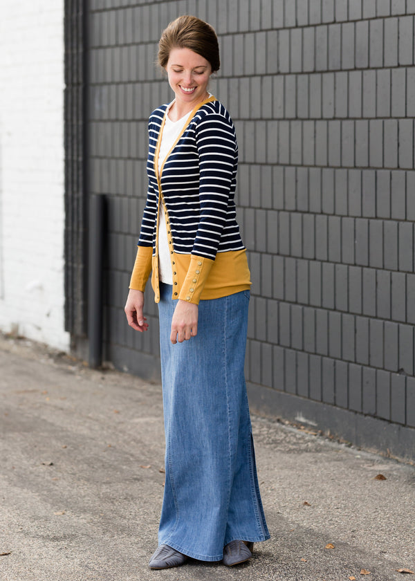 Inherit Co.  | Modest Women's Skirts | Ellie Long Denim Skirt