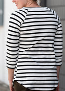 Multi Striped 3/4 Sleeve Top - FINAL SALE