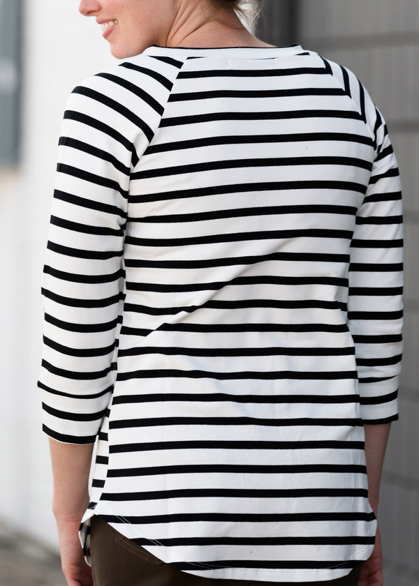 Inherit Co.  | Multi Striped 3/4 Sleeve Top