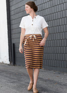 Striped Style Midi Skirt - FINAL SALE