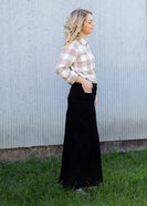 Inherit Co.  | Inherit Originals | Stella Black Colored Denim Skirt
