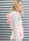 DoubleHood™ Quilted Peach Sweatshirt