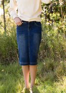 Inherit Co.  | Amanda's Favorites! | Bryn Midi Denim Skirt